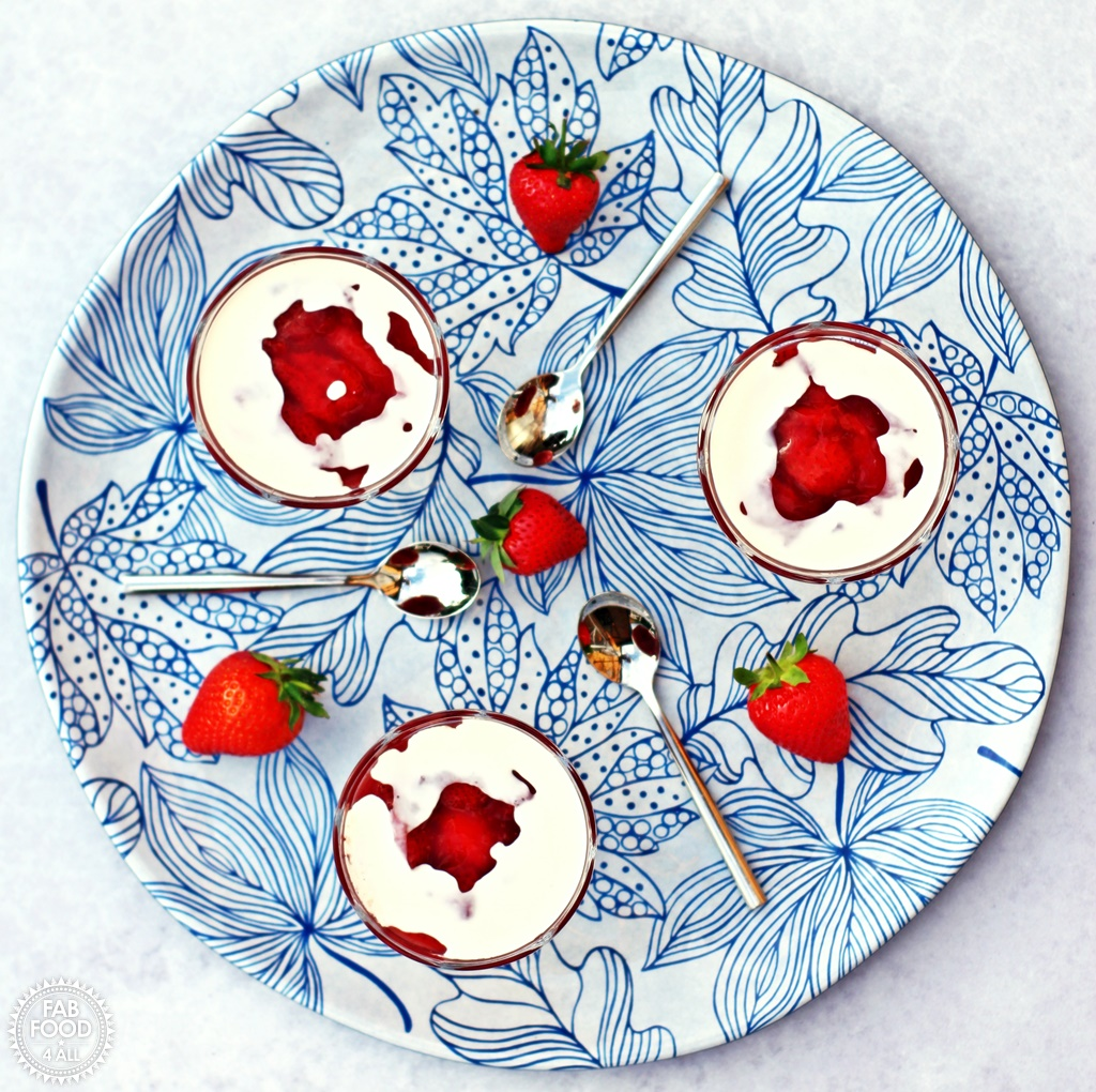 Rødgrød med fløde (Danish Red Berry Compote with Cream) - Fab Food 4 All