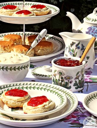 Strawberry & Elderflower Jam - Fab Food 4 All #jam #strawberry #elderflower #canning