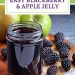 Blackberry & Apple Jelly Pinterest image.