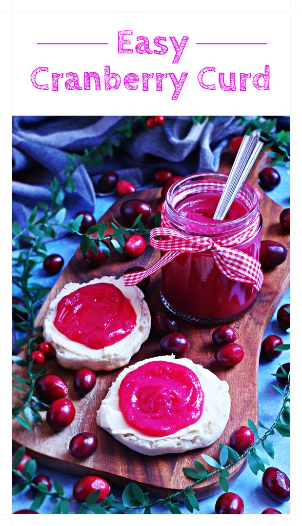 Easy Cranberry Curd, a delicious, fruity, festive spread which is perfect for gifting - just pop on a bow! #cranberry #curd #fruitcurd #preserve #canning #festivepreserve #cranberryrecipe #preserverecipe #ChristmasRecipes #holidayrecipes