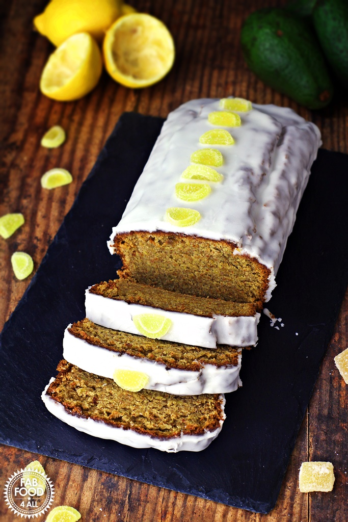 Easy Ginger Avocado Cake with Lemon Drizzle - Fab Food 4 All