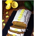 Easy Ginger & Avocado Cake with Lemon Drizzle Pinterest image.