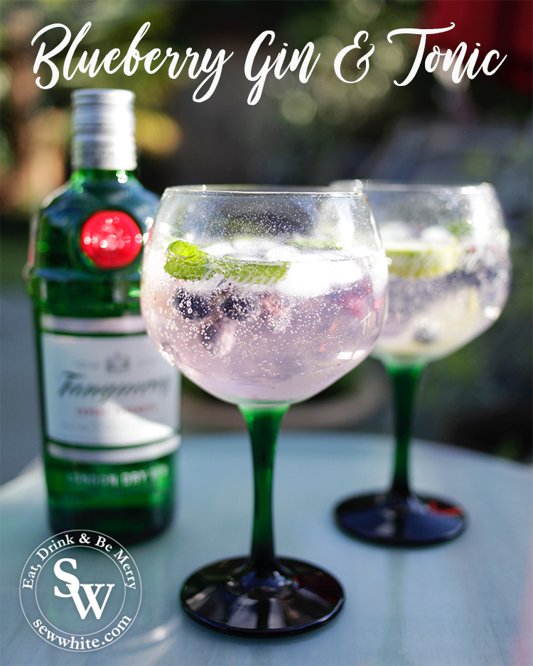 Blueberry Gin & Tonic recipe from Sew White