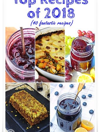 Top Recipes of 2018 - 20 Top Recipes from Fab Food 4 All plus 20 top food blogger recipes! #recipes #toprecipes #mostpopularrecipes #FabFood4AllRecipes #BestRecipes