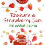 Rhubarb and Strawberry Jam collage - Pinterest image.