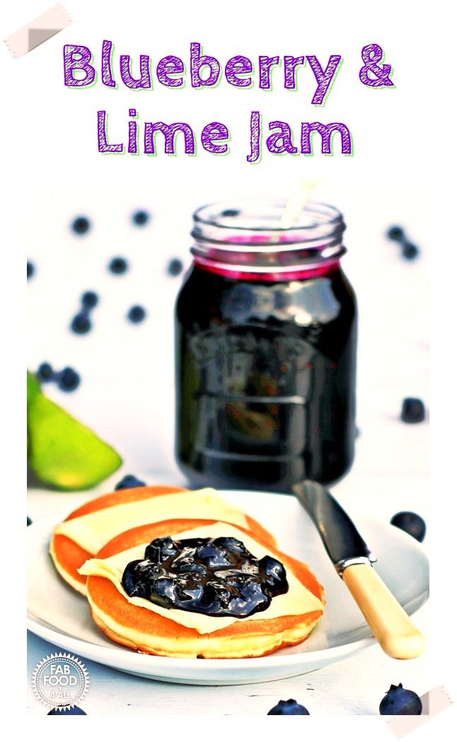Blueberry & Lime Jam - Pinterest image