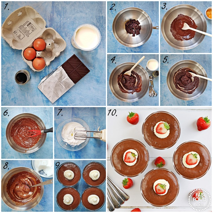 Step-by-step process shots of Foolproof Rich Chocolate Mousse.