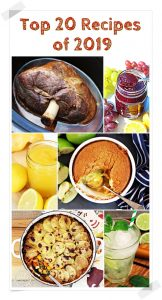 Top 20 Recipes of 2019 montage Pinterest image.