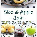 Sloe & Apple Jam montage Pinterest image.