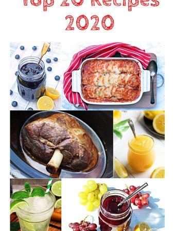 Top 20 Recipes 2020 Pinterest montage