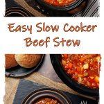 Slow Cooker Beef Stew Pinterest image.