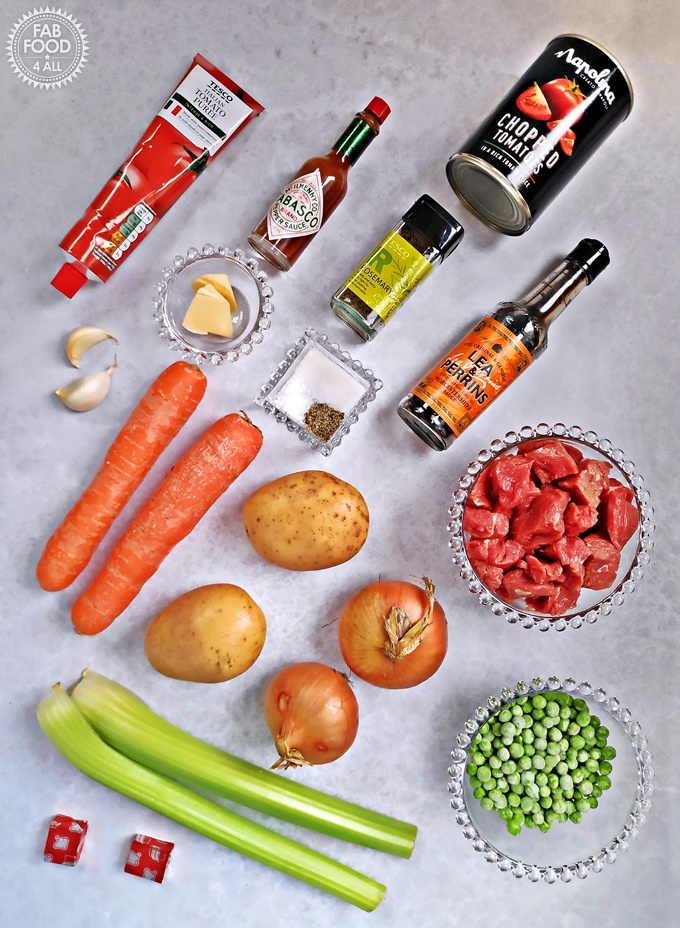 Ingredients for Easy Slow Cooker Beef Stew