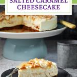 Salted Caramel Cheesecake Pinterest Image