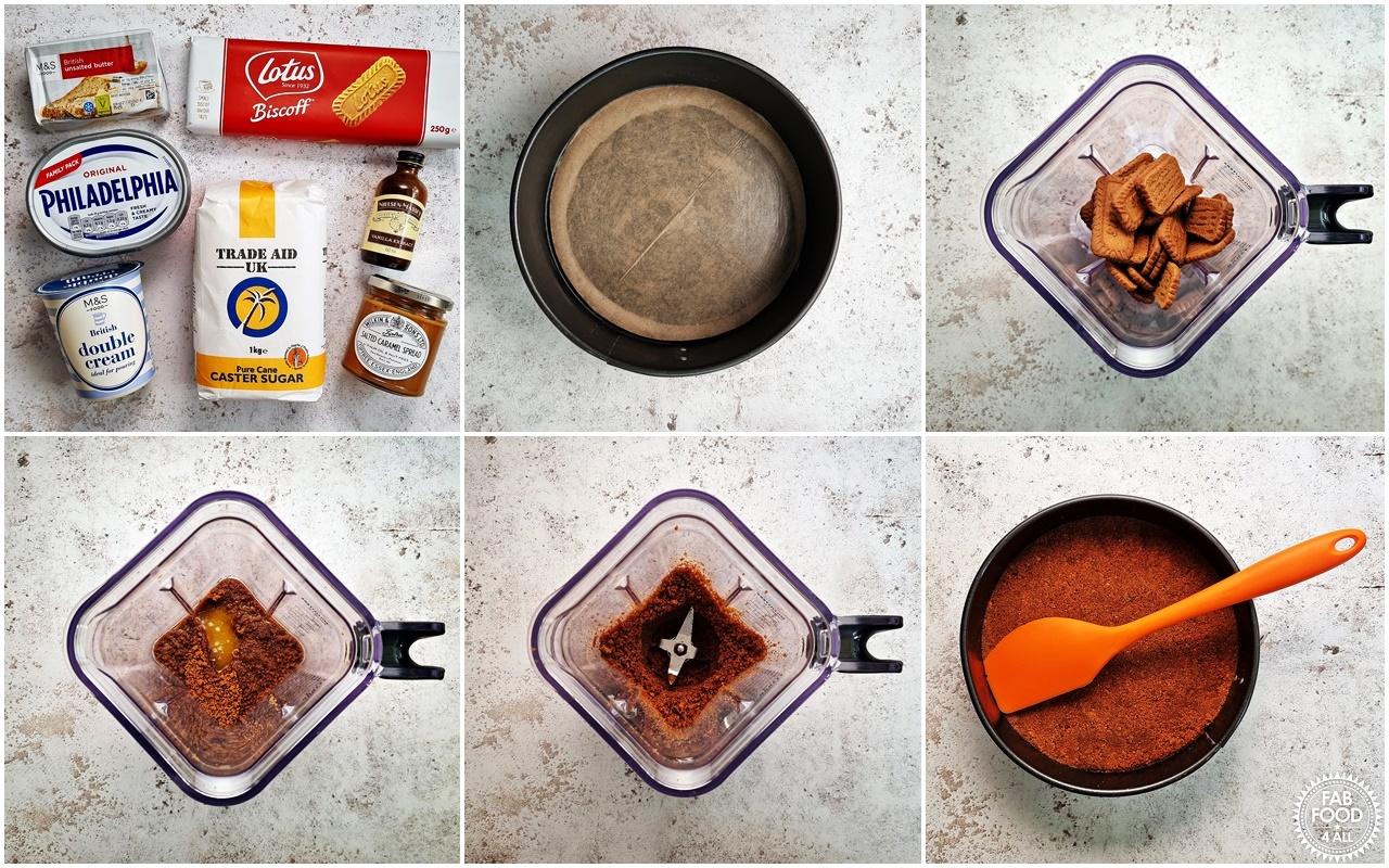 Easy No Bake Salted Caramel process shots 1 - 6