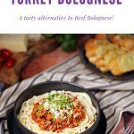 Turkey Bolognese Pinterest image.