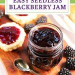 Easy Seedless Blackberry Jam Pinterest image.